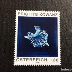 Sellos: AUSTRIA AÑO 2020. ARTE CONTEMPORANEO EN AUSTRIA. PINTURA DE BRIGITTE KOWANZ. Lote 245125050