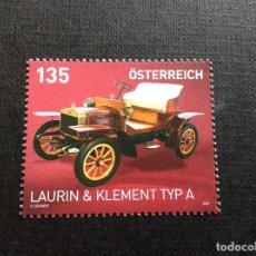 Francobolli: AUSTRIA AÑO 2020. AUTOMOVIL. LAURIN-KLEMENT TIPO A DE 1905. Lote 245126525