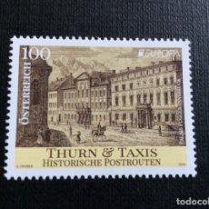 Sellos: AUSTRIA AÑO 2020. EUROPA. ANTIGUAS RUTAS POSTALES, THURN Y TAXIS. Lote 245283980