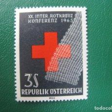 Sellos: -AUSTRIA, 1965, 20 CONFERENCIA DE CRUZ ROJA INTERNACIONAL EN VIENA, YVERT 1030. Lote 245298940
