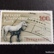 Sellos: AUSTRIA AÑO 2020. CENTENARIO CRIA CABALLOS LIPIZANOS,. Lote 245307050