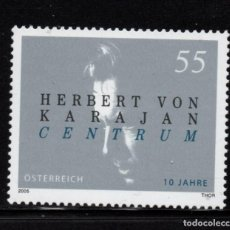 Sellos: AUSTRIA 2341** - AÑO 2005 - MUSICA - 10º ANIVERSARIO DEL CENTRO HERBERT VON KARAJAN. Lote 245954695