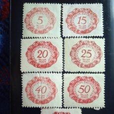 Sellos: AUSTRIA OSTERREICH 7 SELLOS, SELLER PORTO AÑO 1920.. Lote 245962415