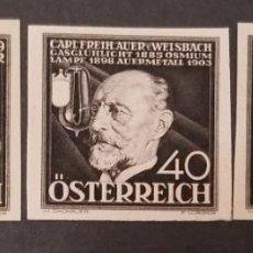 Sellos: O) AUSTRIA 1936, PRUEBA DE DADO TALLA DULCE, INVENTORES, PRODUCTOS DE ARMAS JOSEF WERNDL, ENERGÍA, B. Lote 246035590