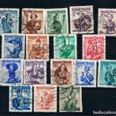 Sellos: AUSTRIA 1958 LOTE DE SELLOS ANTIGUOS USADOS, TRAJES REGIONALES. Lote 247540550
