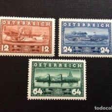 Sellos: AUSTRIA Nº YVERT 496/8*** AÑO 1937. CENTENARIO NAVEGACION A VAPOR POR EL DANUBIO. Lote 250267005