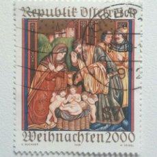 Sellos: AUSTRIA 2000 NAVIDAD SELLO USADO. Lote 253235270
