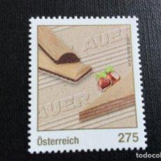 Selos: AUSTRIA AÑO 2020. GASTRONOMIA. CENTENARIO DE TORTENECKEN AUER. Lote 253578600
