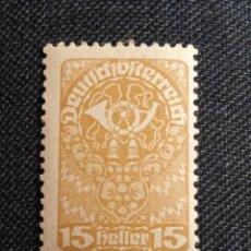 Sellos: AUSTRIA, DEUTSCH OSTERREICH 15 HELLER AÑO 1921. NUEVO. Lote 254430925