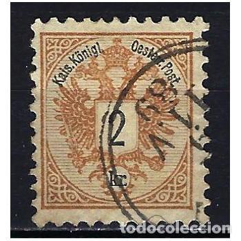 1883 AUSTRIA MICHEL 44 YVERT 40 ESCUDO - USADO - DENTADO 10 1/2 (Sellos - Extranjero - Europa - Austria)