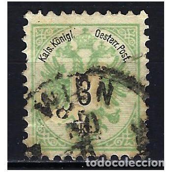 1883 AUSTRIA MICHEL 45 YVERT 41 ESCUDO - USADO - DENTADO 10 1/2 (Sellos - Extranjero - Europa - Austria)