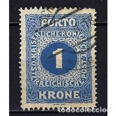 Sellos: 1916 AUSTRIA MICHEL 55 YVERT 57 TASAS - USADO. Lote 254690060