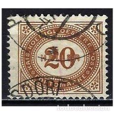 Sellos: 1900 AUSTRIA MICHEL 31 YVERT 31 TASAS - USADO. Lote 254690990