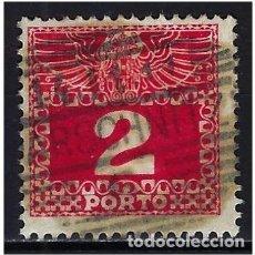 Sellos: 1908 AUSTRIA MICHEL 35 YVERT 35 TASAS - USADO. Lote 254691085