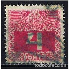 Sellos: 1908 AUSTRIA MICHEL 36 YVERT 36 TASAS - USADO. Lote 254691225