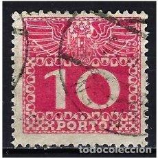 Sellos: 1908 AUSTRIA MICHEL 38 YVERT 38 TASAS - USADO. Lote 254691340