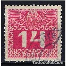 Sellos: 1913 AUSTRIA MICHEL 39 YVERT 46 TASAS - USADO. Lote 254691390
