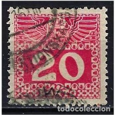 Sellos: 1908 AUSTRIA MICHEL 40 YVERT 39 TASAS - USADO. Lote 254691450