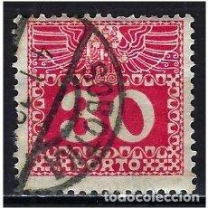 Sellos: 1908 AUSTRIA MICHEL 42 YVERT 41 TASAS - USADO. Lote 254691530