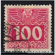 Sellos: 1908 AUSTRIA MICHEL 44 YVERT 43 TASAS - USADO. Lote 254691800