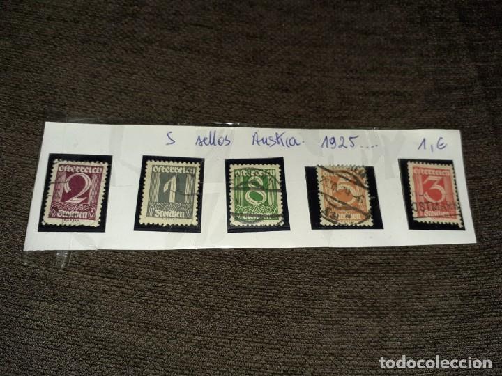 LOTE DE 5 SELLOS AUSTRIA 1925. CIRCULADOS. NINGÚN REPETIDO (Sellos - Extranjero - Europa - Austria)