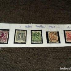 Sellos: LOTE DE 5 SELLOS AUSTRIA 1925. CIRCULADOS. NINGÚN REPETIDO. Lote 254994045