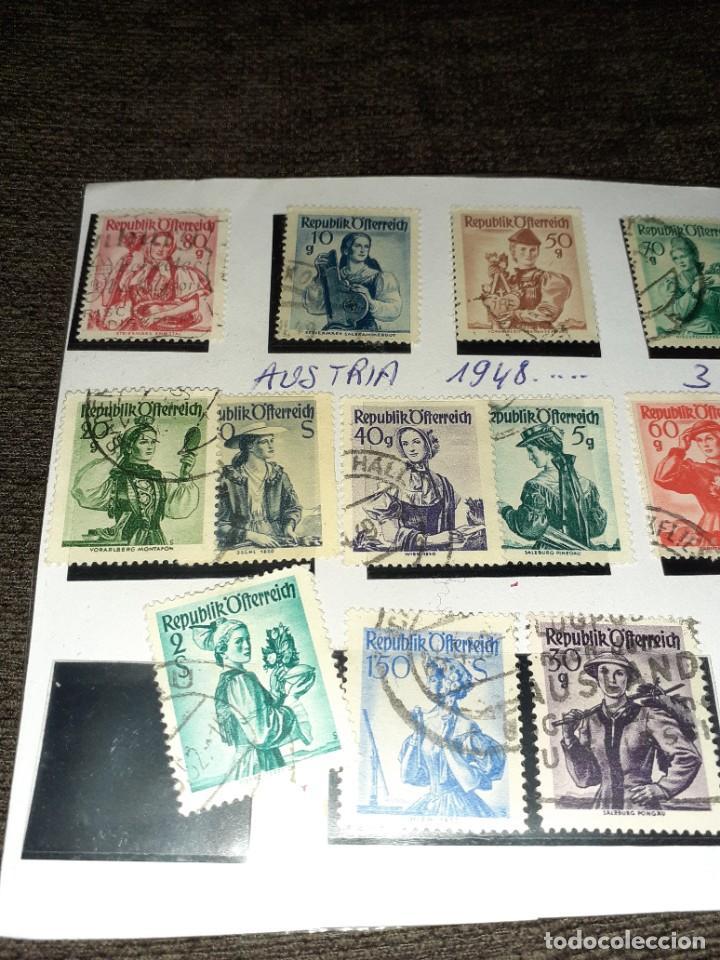 Sellos: Lote de 18 sellos de Austria de 1948. Circulados. Ningún repetido Ningún repetido - Foto 2 - 254996445