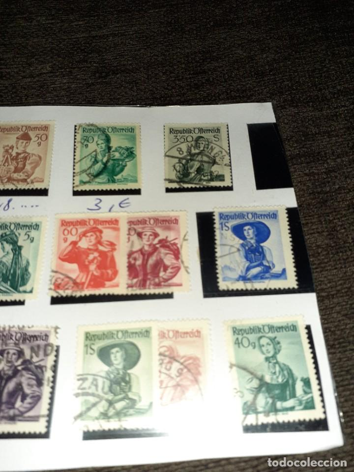 Sellos: Lote de 18 sellos de Austria de 1948. Circulados. Ningún repetido Ningún repetido - Foto 3 - 254996445