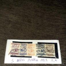 Sellos: LOTE DE 5 SELLOS AUSTRIA. 1925. MISMA SERIE. CIRCULADOS. Lote 255999125