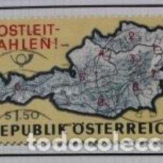 Sellos: SELLO MAPA DE AUSTRIA: POSTLEIT-ZAHLEN (CÓDIGOS POSTALES). Lote 257480140
