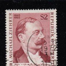 Sellos: AUSTRIA 1232 - AÑO 1972 - MUSICA - 50º ANIVERSARIO DE LA MUERTE DEL COMPOSITOR CARL MICHAEL ZIEHRER. Lote 260968955