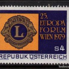 Sellos: AUSTRIA 1453 - AÑO 1979 - FORUM EUROPEO DELION INTERNATIONAL. Lote 260984500