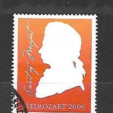 Sellos: W.A. MOZART, COMPOSITOR. AUSTRIA. SELLO DEL AÑO 2006. Lote 261330520