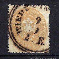Sellos: 1863 AUSTRIA MICHEL 28 YVERT 26 ESCUDO - DENTADO 14 - USADO. Lote 262174190