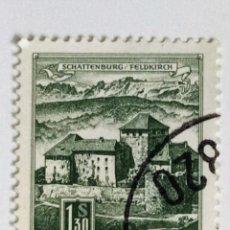 Sellos: SELLO DE AUSTRIA 1,3 S - 1967 - CASTILLO - USADO SIN SEÑAL DE FIJASELLOS. Lote 268829334