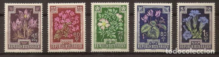 AUSTRIA 1948 - FLORES - YVERT 726/730 ** (Sellos - Extranjero - Europa - Austria)