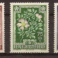 Sellos: AUSTRIA 1948 - FLORES - YVERT 726/730 **. Lote 277208518