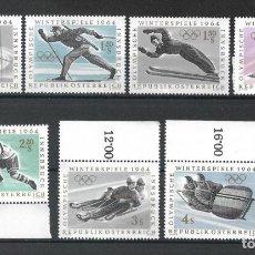 Sellos: AUSTRIA 1964 ** SERIE COMPLETA - 4/58. Lote 278563698
