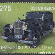 Sellos: 2.- AUSTRIA 2021 AUTOMOVIL GRAF Y STIFT SP 8 PULLMAN. Lote 288168463
