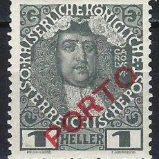 """Sellos: AUSTRIA 1916 - SELLO DE FRANQUEO, SOBREIMPRESO """"PORTO"""" - MNH**. Lote 288698738"""