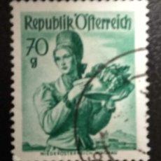 Sellos: AUSTRIA 1948 - YVERT NRO. 748 - USADO. Lote 289910848