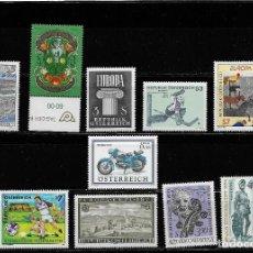 Sellos: AUSTRIA, LOTE DE 10 VALORES FORMANDO SERIES COMPLETAS. MNH.. Lote 292153448