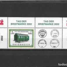 Sellos: AUSTRIA 2002, SERIE SC B372 TRENES MNH.. Lote 292160888