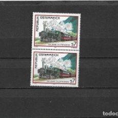 Sellos: AUSTRIA 2001, CENTENARIO DE LA LOCOMOTORA A VAPOR EN PAREJA.. MNH.. Lote 292162068