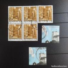 Sellos: ## SELLO USADO AUSTRIA 2003 1 BLOQUE DE 5 SELLOS + 2 SUELTO ##. Lote 292318543