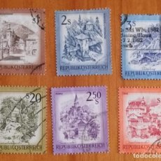 Sellos: LOTE 6 SELLOS DE AUSTRIA - PAISAJES - MONTAÑAS -. Lote 295413708
