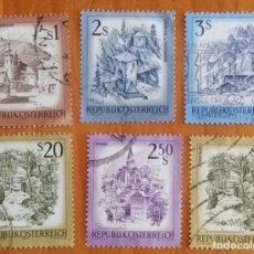 Sellos: LOTE 6 SELLOS DE AUSTRIA - PAISAJES - MONTAÑAS -. Lote 295413818