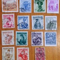 Sellos: LOTE 15 SELLOS DE AUSTRIA - PAISAJES - MONTAÑAS - MUJERES. Lote 295414283