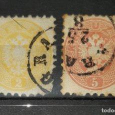 Sellos: AUSTRIA,1863/64. CAT.YT.27 Y 29.. Lote 295461643