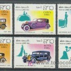 Sellos: LAOS 1982 - AUTOMOVILES Y COCHES ANTIGUOS - YVERT Nº 430-435**. Lote 24841181